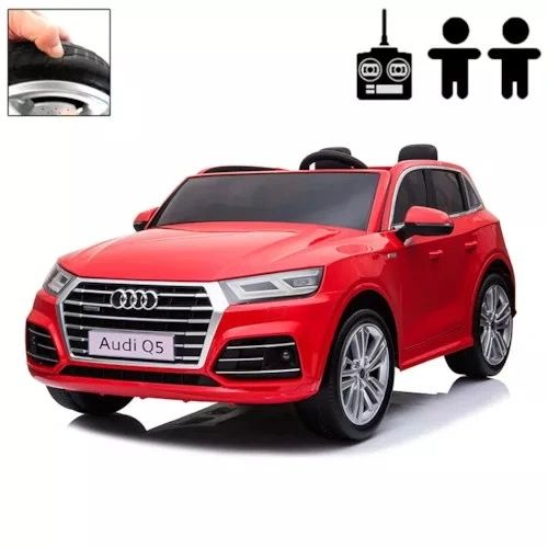 RED TOUCH TV 24V LICENSED AUDI RIDE ON TOY CAR , USE THE REMOTE OR PRESS ON PEDAL AND GO... 4 x 4 RUBBER TIRES, LEATHER SEAT
