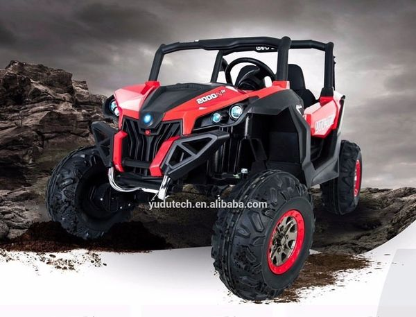 Touch TV UTV AGES 2-6 Razor 24V Remote Control over-ride Rubber Tires leather Seat two seater