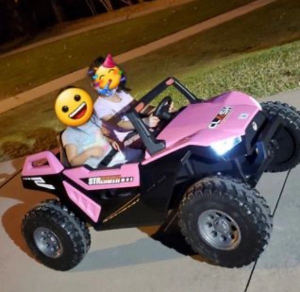Deposit for layaway ONLY Balance is due before shipment 24V Touch TV Giant UTV AGES 2-10 RIDE WITH REMOTE OR PRESS ON PEDAL AND GO .. BUGGY RUBBER TIRES LEATHER SEAT
