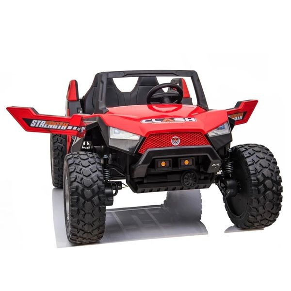 TOUCH TV , 24V , GIANT BUGGY XL UTV AGES 2-10 RAZOR STYLE, PARE NTAL REMOTE CONTROL OR PRESS ON PEDAL AND GO.. LEATHER SEAT , RUBBER TIRES , 4WD .