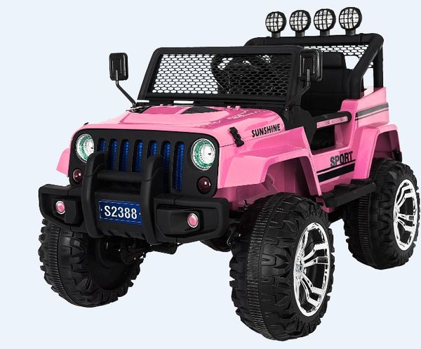 Jeep style 2 SEATER 12BIG MOTOR BLUETOOTH, RUBBER TIRES, LEATHER SEAT, 4 MOTORS, 12V, 10AH