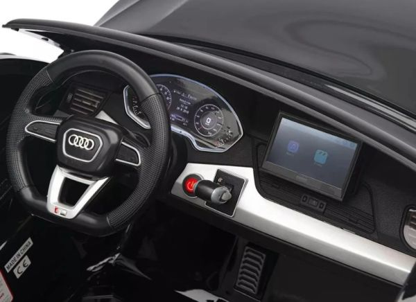 TOUCH TV , 24V , GIANT AUDI Q5 XL UTV AGES 2-10 RAZOR STYLE, PARE NTAL REMOTE CONTROL OR PRSS ON PEDAL AND GO..LEATHER SEAT , RUBBER TIRES , 4WD . Truck