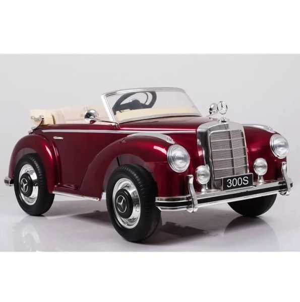 Ages 1-4. OFFICIALLY LICENSED MERCEDES 300S RETRO LEATHER SEAT RUBBER TIRES MP3 , RADIO,