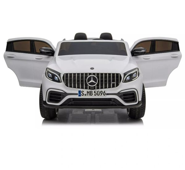 Ages 1-6 TOUCH TV MERCEDES -BENZ AMG GLC63S Big 12V 2-SEATER KID , LEATHERS SEAT , RUBBER TIRES RIDE ON CAR WITH REMOTE CONTROL