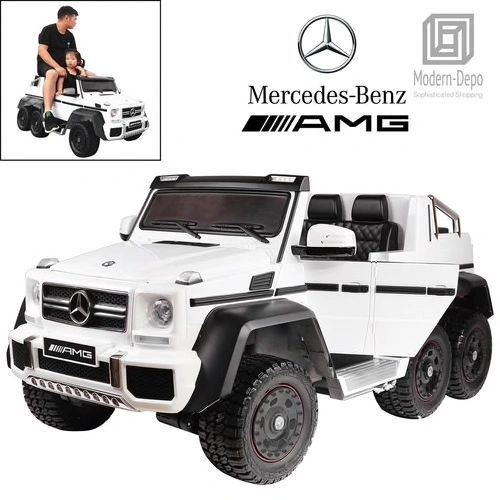 Ages 1-4 & Ages 6 @ UP TOUCH TV , MERCEDES G63 LUXURY SIX WHEEL DRIVE WITH SPARE BATTERY BOX FOR ADULTS ANDKIDS TO DRIVE TOGETHER. 6 x BIG MOTORS