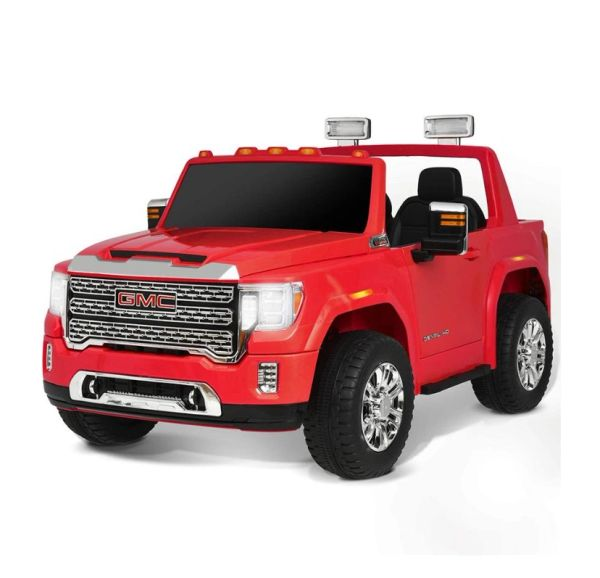 Ages 1-6 4x4 GMC Denali Two Seats Ride on toy car with Remote Bluetooth Speakers Leather Seat Rubber Tires