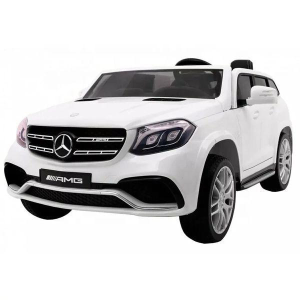 24V Licensed Mercedes GLS 63 4x4 Ride On Toy Car leather Seat , Rubber Tires