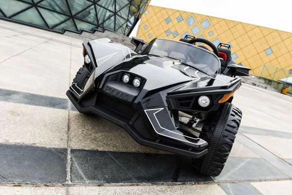 Polaris Buggy style Black! FREE ECONOMY SHIPPING Two Seat , leather seat . Bluetooth speakers 4x4 . Rubber tires. Lights. Shock Free local delivery and assembly