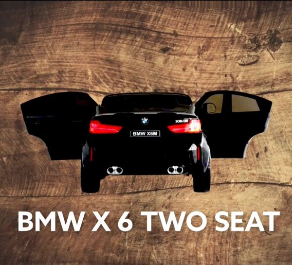 Licensed BMW X6 Two Seat big motors Leather Seat Aux wire connection