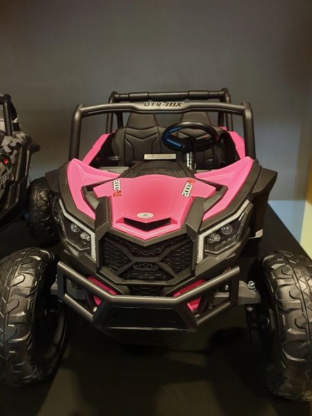 Giant Pink UTV ride on with 24v 200 W Motors Touch TV Rubber Tires leather seat