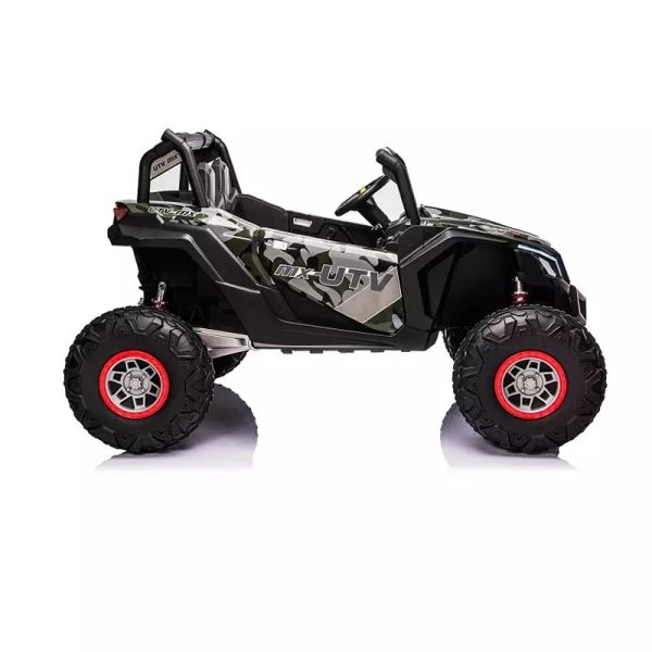 Giant UTV ride on with 24v 200 W Motors Touch TV Rubber Tires leather seat