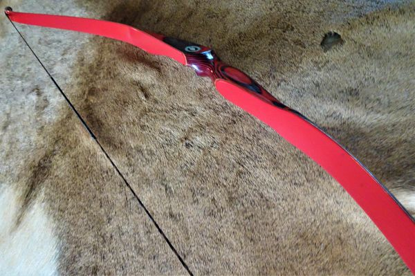 "54"" 30#@28"" Red and Black Torrent Recurve"