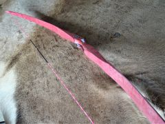 "56"" 38#@28"" Pink ""Ombre ""Birdseye Maple Torrent Longbow"