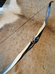 "58"" 38#@28"" Black and White Ebony with Rivercamo Classic Recurve"