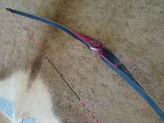 "48"" 18#@24"" Hot Pink and Black Lil Rapids (Formerly Otter) Youth Longbow"