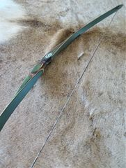 """48"""" 23#@24"""" Lefty Camo with Green Glass Lil Rapids (Otter) Youth Longbow"""