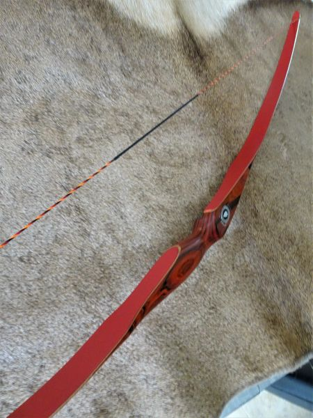 "56"" 33#@28"" Save the Rainforest ""Cocobolo"" and Red Glass Torrent Longbow"