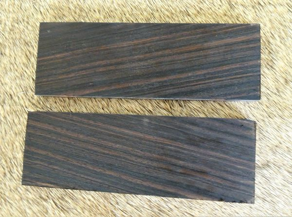 Knife Scales Maccassar Ebony08
