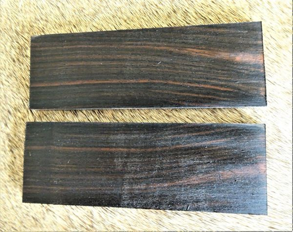 Knife Scales Maccassar Ebony05