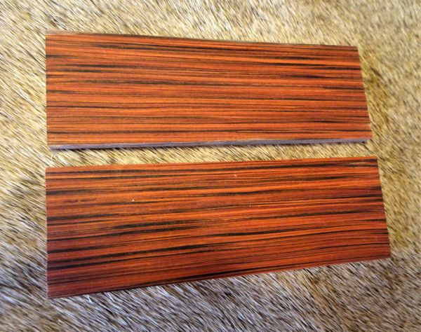 "Knife Scales ""Cocobolo"" Save the Planet Wood"