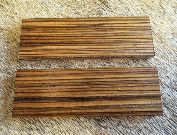Knife Scales Zebrawood