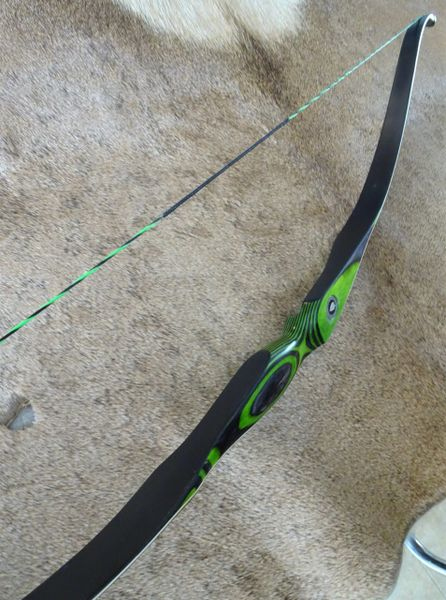 "54"" 33#@28"" Lime Green and Black Torrent Recurve"
