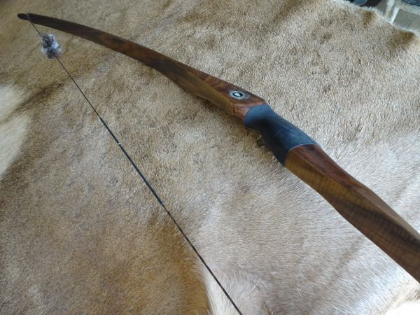 "62"" 50#@28"" 2 pc. Takedown Walnut and Curly Myrtle Classic Longbow"