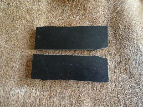 Black phenalic knife scale