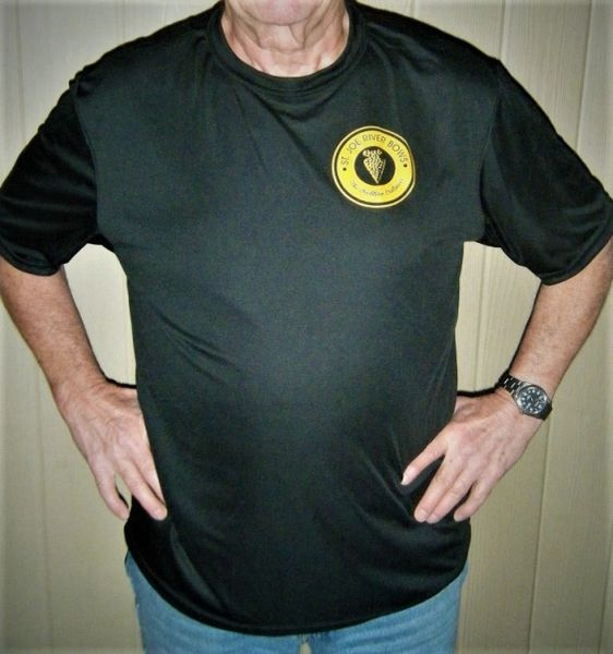 St Joe River Logo T-shirt Dry Weave Moisture Wicking Mens sizing