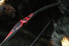 """46"""" 10#@22"""" RED AND BLACK OTTER YOUTH LONGBOW"""