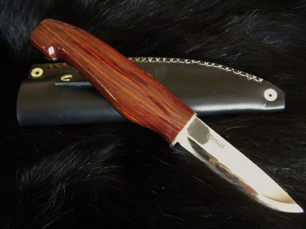 "10"" Cocobolo Knife with Helle Blade and Leather Sheath"