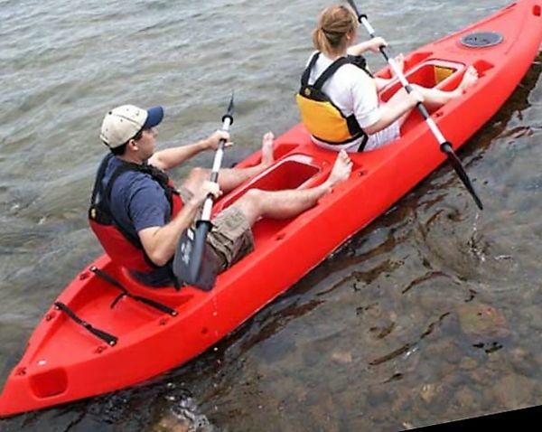 Calypso Tandem Sit On Top Clear Bottom Kayak