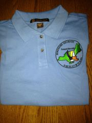 Berkshire Geobash #4 Blue Polo Shirt (2015) - Trackable - Women's sizes only