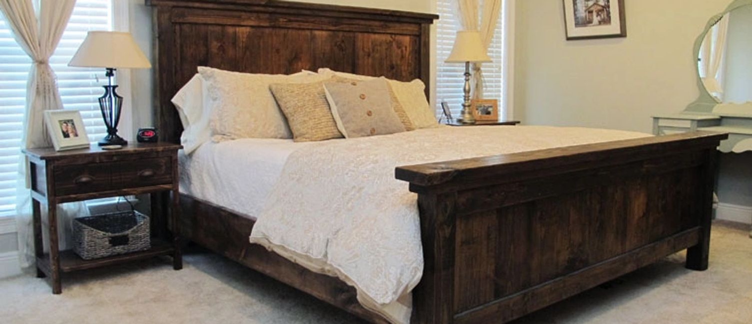 Barn Board Bed Frame and Night Tables