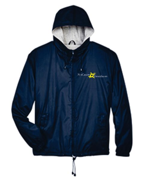 UltraClub Adult Fleece-Lined Hooded Jacket