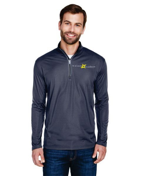 UltraClub Men's Cool & Dry Sport Quarter-Zip Pullover