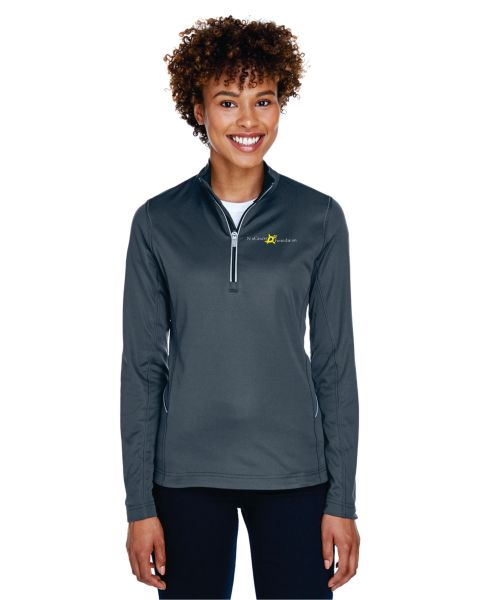 UltraClub Ladies' Cool & Dry Sport Quarter-Zip Pullover