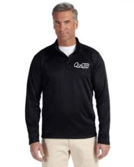 Qualtek Men's Stretch Tech-Shell® Compass Quarter-Zip Black, Grey and Navy