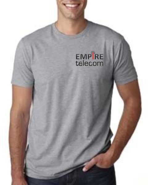 Empire Next Level Men's Cotton Crew Black, Navy and Grey
