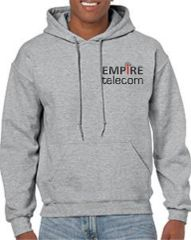 Empire Gildan Adult Heavy Blend™ 8 oz., 50/50 Hood Black, Grey and Navy