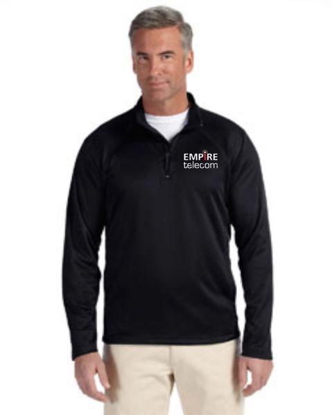 Empire Devon & Jones Men's Stretch Tech-Shell® Compass Quarter-Zip Balck, Navy and Grey
