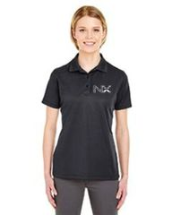 NX UltraClub Ladies' Cool & Dry Mesh Piqué Polo Grey, Navy and Black