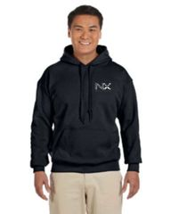 NX Gildan Adult Heavy Blend™ 8 oz., 50/50 Hood Black, Grey and Navy