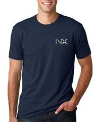 NX Next Level Men's Cotton Crew Grey, Black and Navy