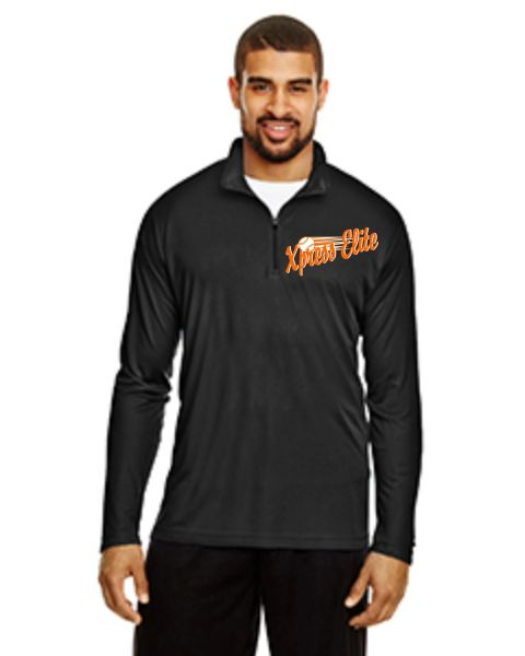 Xpress Black 1/4 zip male Embrioder