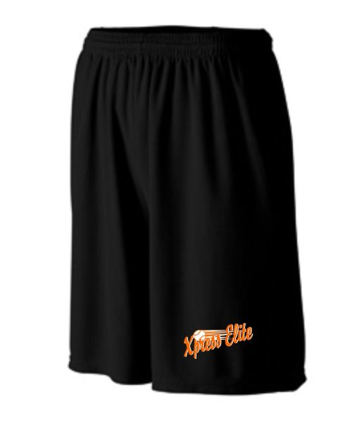 Xpress Black Men's Augusta Wicking Short with Pockets Black or Graphite