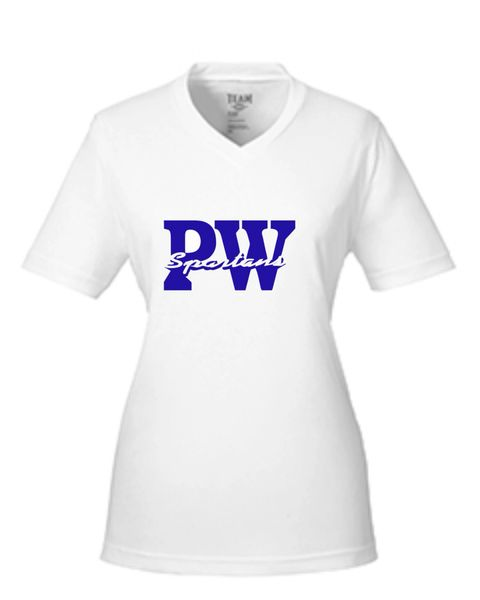 Womens White Wicking tee Youth and Adult
