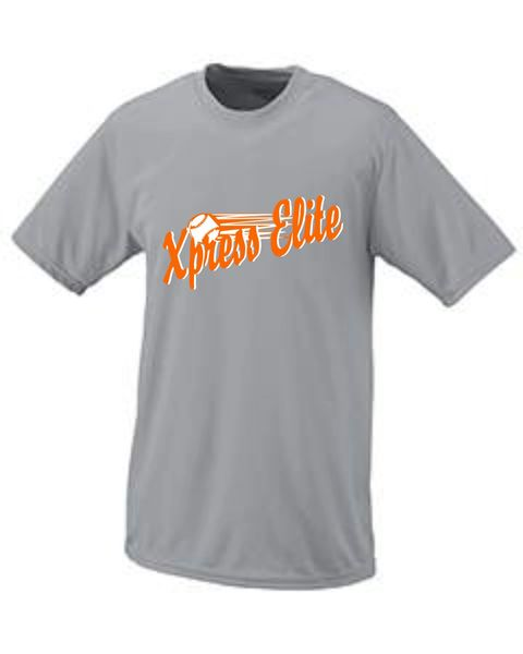 Xpress Wicking Tee Black, Orange, White and Charcoal