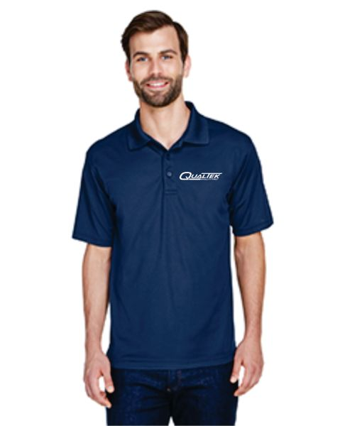 Qualtek Wicking Polo Black, Grey and Navy
