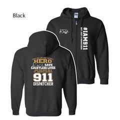 911 Dispatcher: Full Zip Hoodie